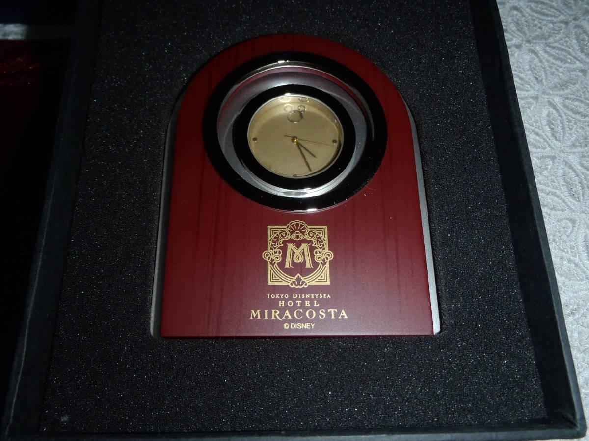 希少 非売品 未使用【東京ディズニーシーホテル MIRACOSTA ミラコスタ】 クロック 置時計 ディズニー 稼働 時計 東京ディズニーランド_使用はしておりません、触っただけです