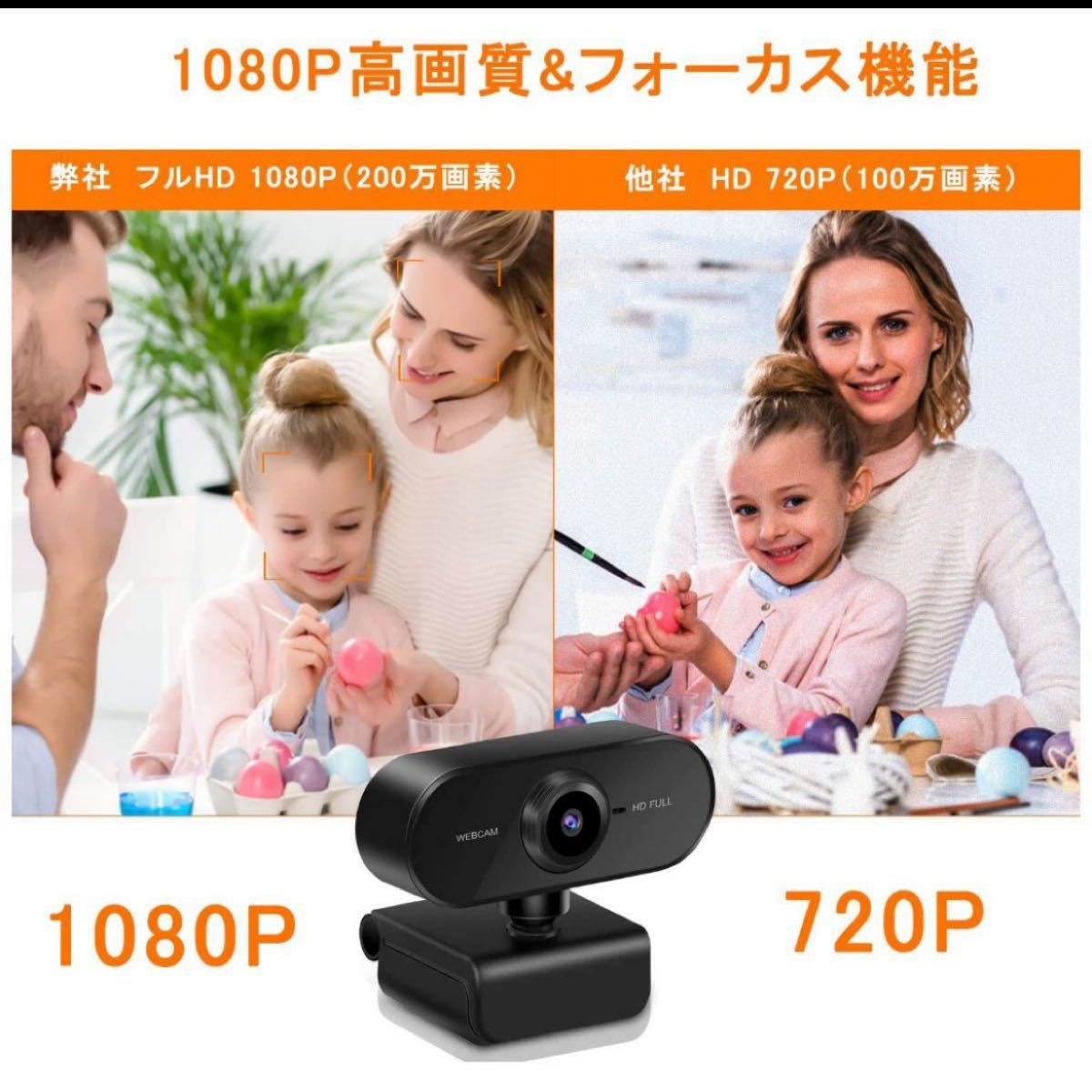 ウェブカメラ Yihao Webカメラ フルHD1080P マイク内蔵 30FPS オートフォーカス ドライバ不要 2台セット