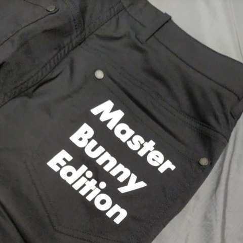 新品正規品 マスターバニー パーリーゲイツ サイズ6 2021モデルの最新作 ナイロン ドビー ストレッチ パンツ ブラック 送料無料_画像7