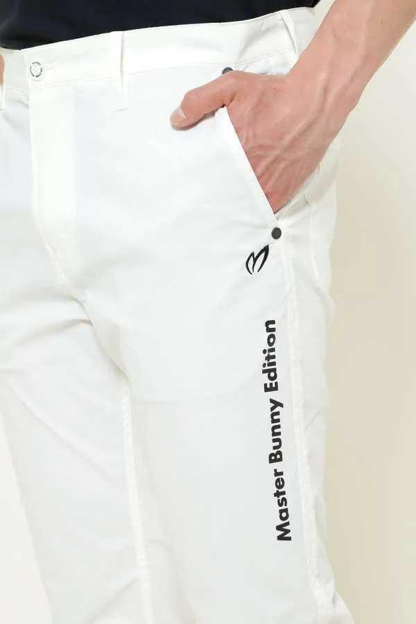 新品正規品 マスターバニー パーリーゲイツ サイズ6 2021モデルの最新作 ナイロン ドビー ストレッチ パンツ オフホワイト 送料無料_画像7