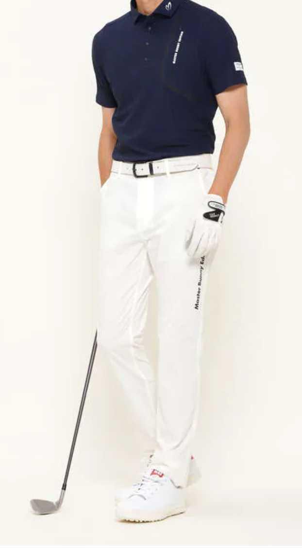 新品正規品 マスターバニー パーリーゲイツ サイズ6 2021モデルの最新作 ナイロン ドビー ストレッチ パンツ オフホワイト 送料無料_画像5