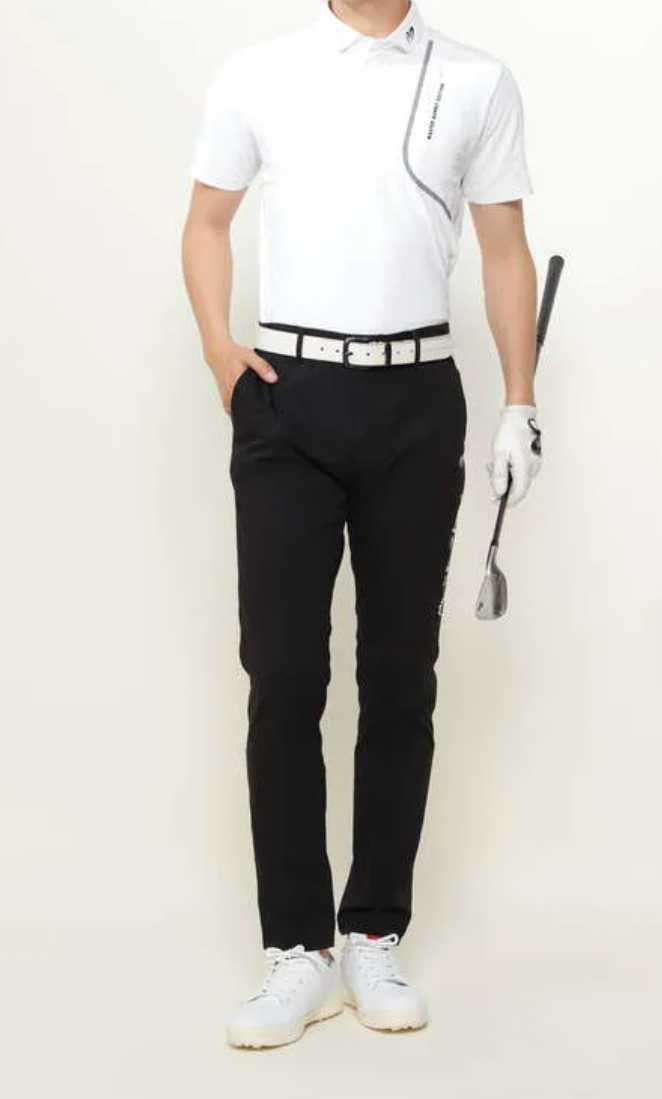 新品正規品 マスターバニー パーリーゲイツ サイズ6 2021モデルの最新作 ナイロン ドビー ストレッチ パンツ ブラック 送料無料_画像3