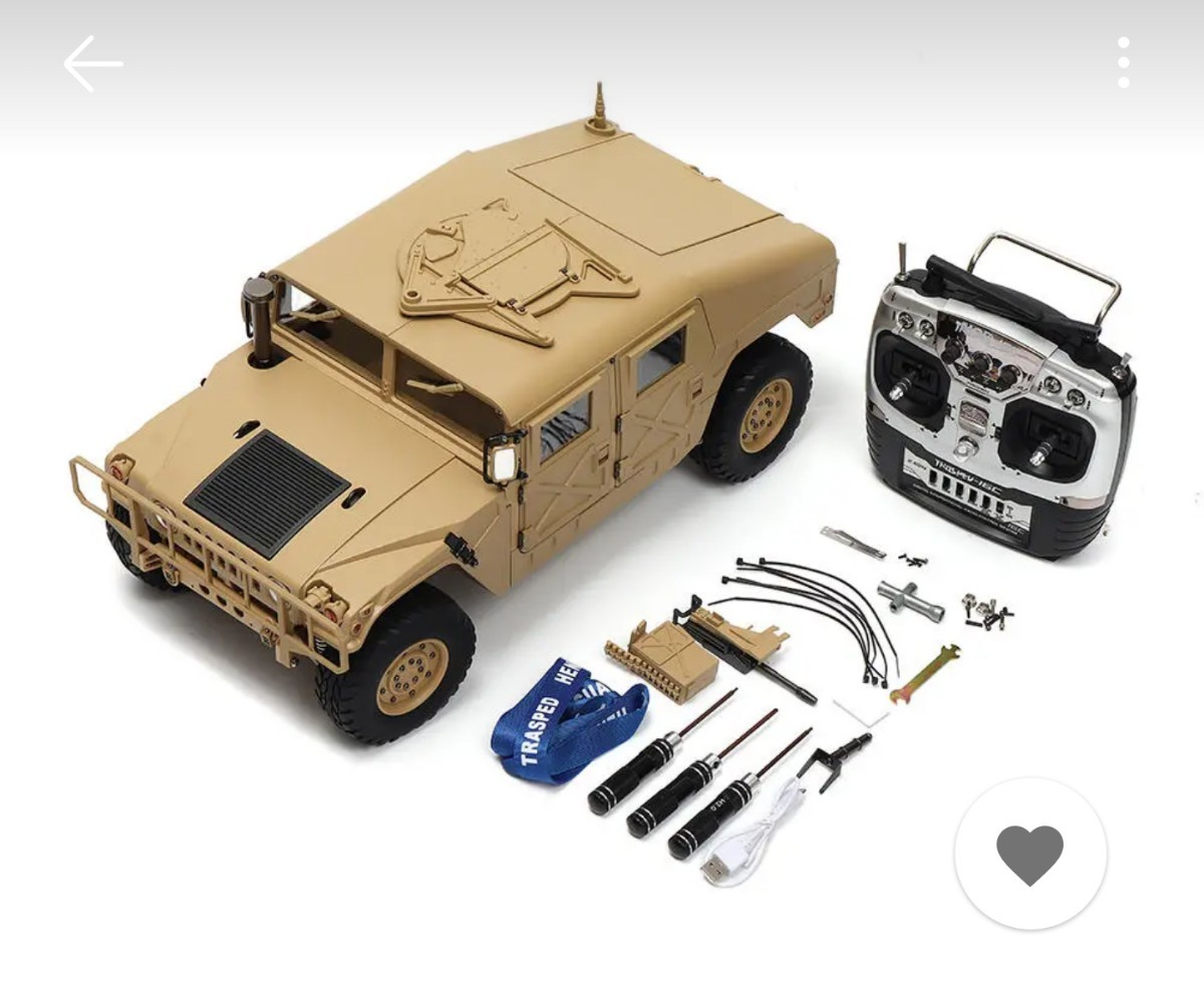 クローラー/HG P408(FO)★1/10AMG.U.SハマーRC★ハンビー/ハンヴィー/RC4WD/フルオペレーション/RTR