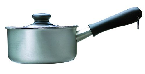 つや消し 蓋付き 柳宗理 日本製 片手鍋 16cm ガス火専用 ステンレスミルクパン つや消し ふた付き_画像1