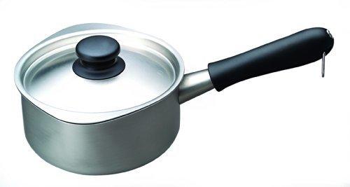 つや消し 蓋付き 柳宗理 日本製 片手鍋 16cm ガス火専用 ステンレスミルクパン つや消し ふた付き_画像3