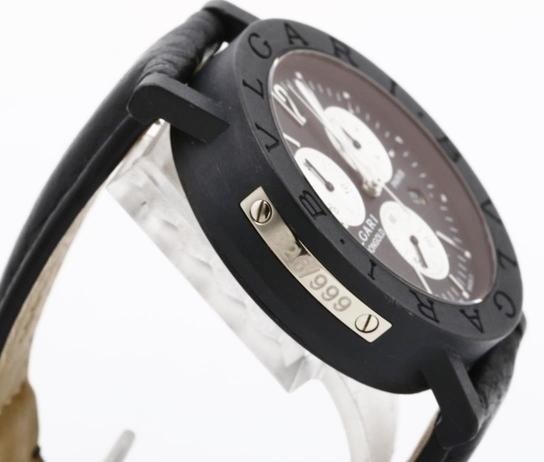 BVLGARI ブルガリ BB38CLCH ブルガリブルガリ クロノグラフ ブラック文字盤 黒 メンズ 腕時計 正規品 稼働品_画像4