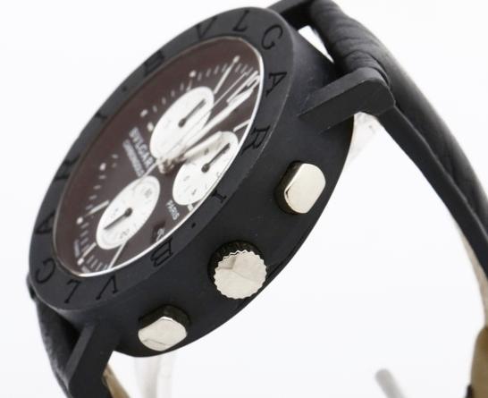 BVLGARI ブルガリ BB38CLCH ブルガリブルガリ クロノグラフ ブラック文字盤 黒 メンズ 腕時計 正規品 稼働品_画像3