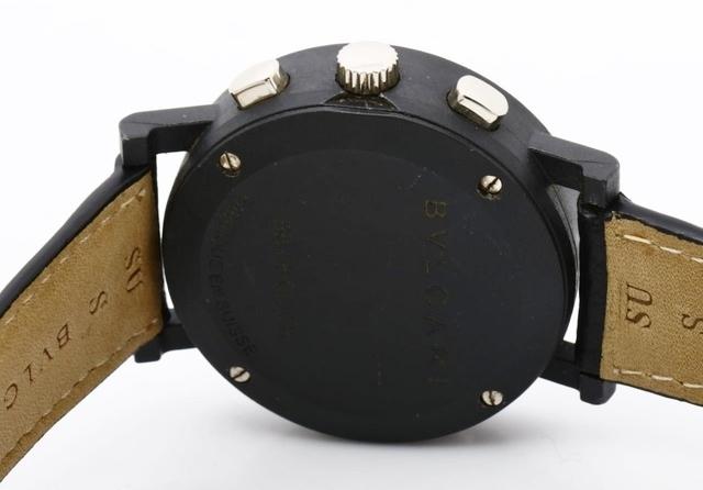 BVLGARI ブルガリ BB38CLCH ブルガリブルガリ クロノグラフ ブラック文字盤 黒 メンズ 腕時計 正規品 稼働品_画像5