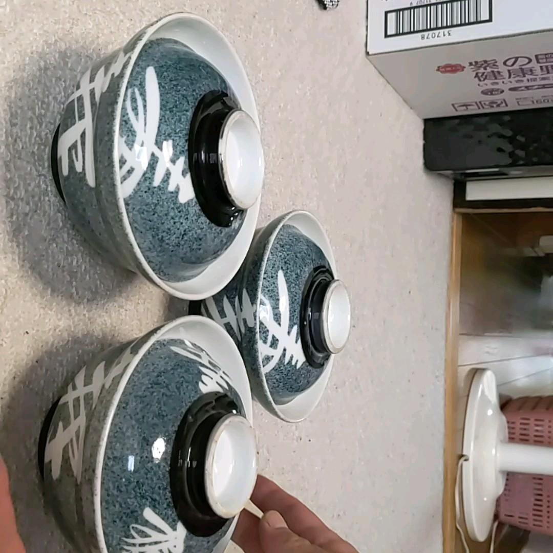 蓋付き どんぶり鉢 3個 セトモノ