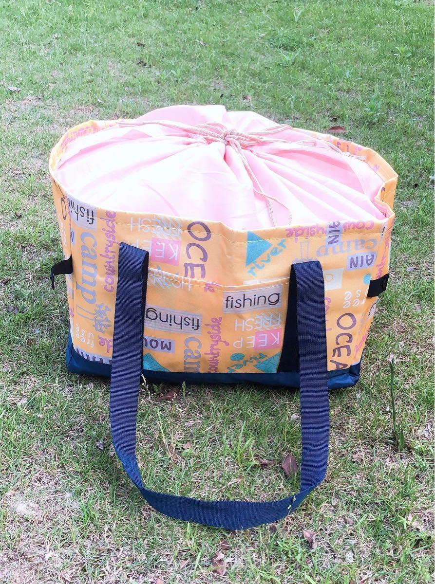 レジカゴバッグ 保冷 折りたたみ エコバッグ大容量マイバッグ イエロー2個セット