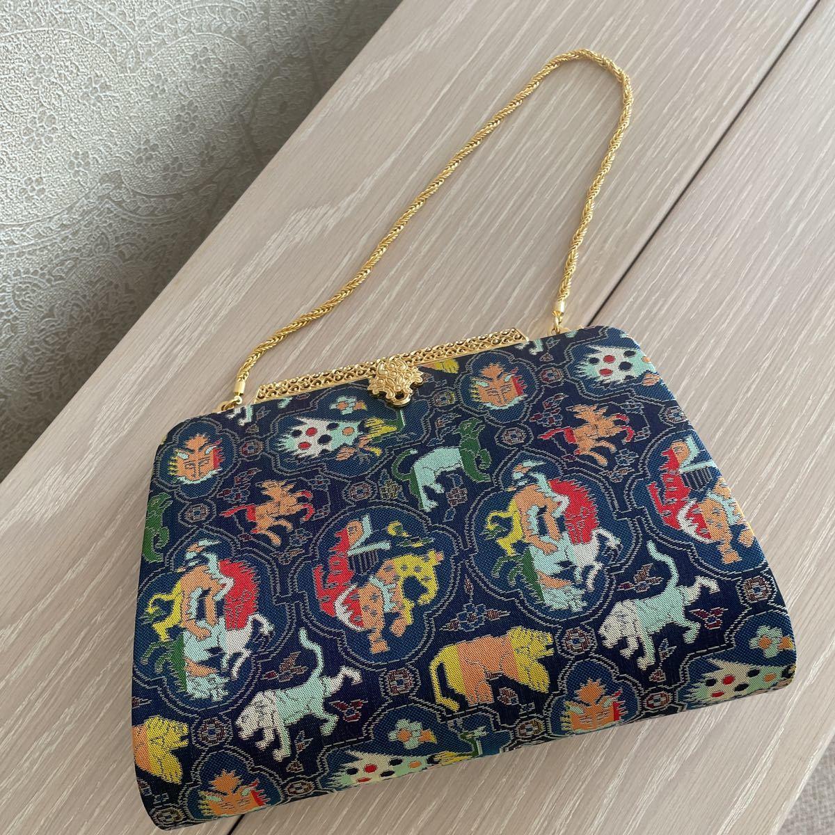 お買い得!龍村織物 高級正絹バッグ!高島屋_画像1