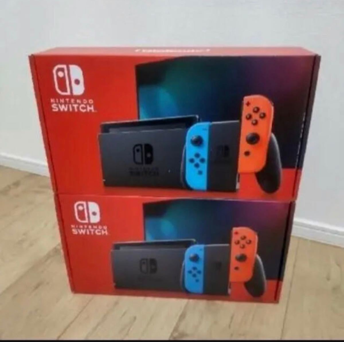 Nintendo Switch ネオンカラー 2台セット 未使用新品 店舗印無