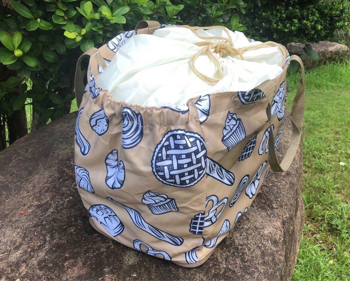 新品 保冷保温レジカゴバッグ 折りたたみエコバッグ 大容量レジかご 防水素材