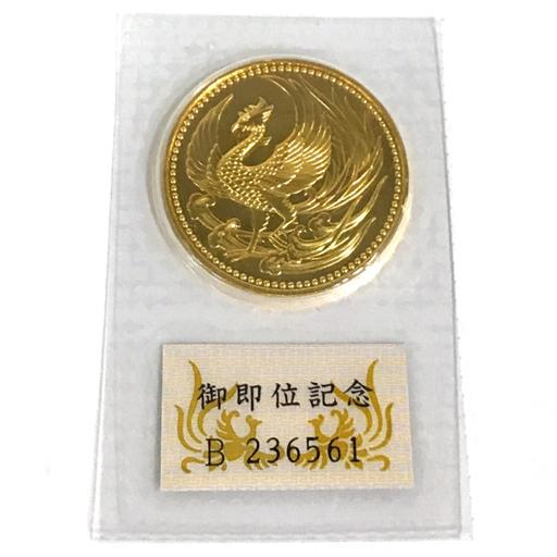 美品 日本国 平成2年 御即位記念 10万円 金貨 B236561 約32.2g 約3.2cm ケース入り QT083-6