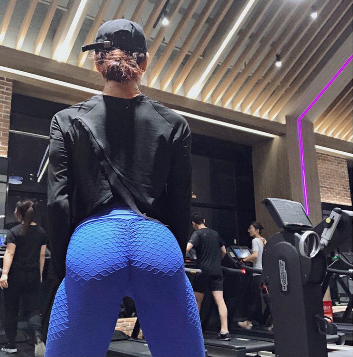 スパッツ ヨガパンツ レギンス ピンク 秋 伸縮性あり L スポーツ レディース 美脚 セクシー ヨガウェア トレーニングウェア