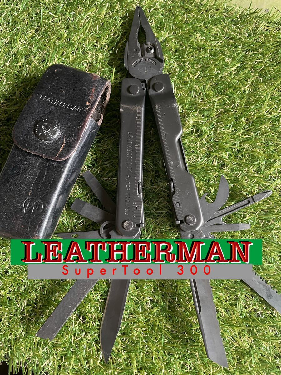 LEATHERMAN SUPERTOOL300 専用レザーシース付 レザーマン スーパーツール マルチプライヤー