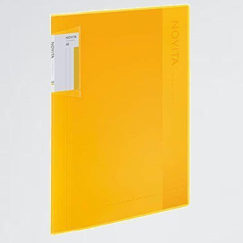 新品 目玉 ファイル コクヨ W-FY 黄 ラ-NV40Y クリヤ-ブック ノビ-タ 固定式 A4 40枚_画像1