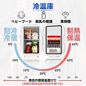 ピンク HANSHUMY 6L化粧品冷蔵庫 3℃~65℃ 冷温庫 ミニ 小型 ポータブル 家庭&車載両用 110V 保温_画像4