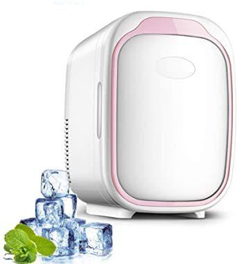 ピンク HANSHUMY 6L化粧品冷蔵庫 3℃~65℃ 冷温庫 ミニ 小型 ポータブル 家庭&車載両用 110V 保温_画像1