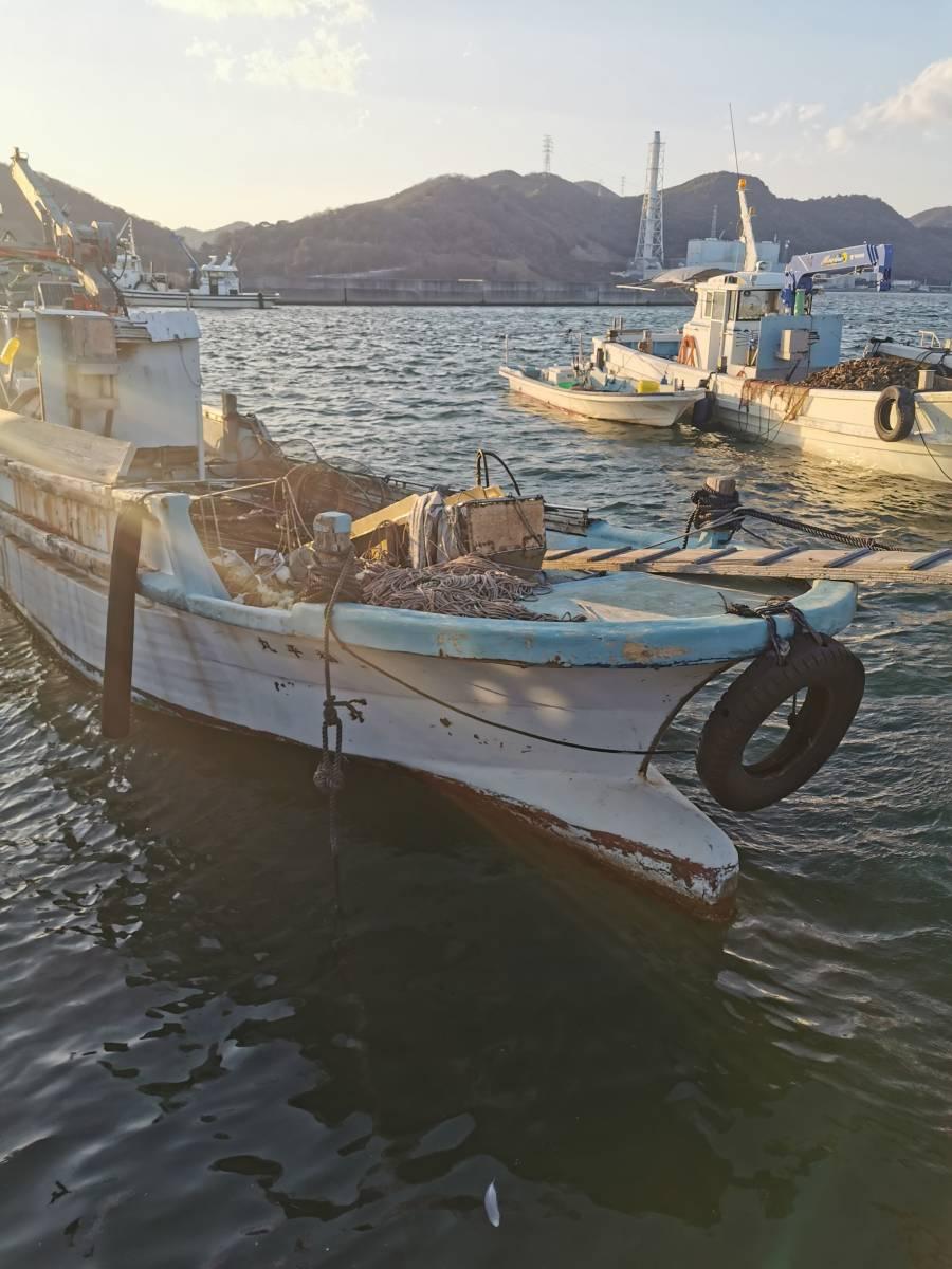 「牡蠣船 現状渡し カキ船 漁船」の画像1