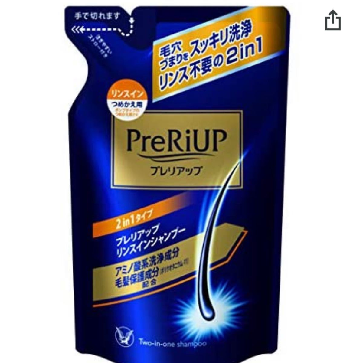 大正製薬 プレリアップ リンスインシャンプー つめかえ用350mL リアップ シャンプー 詰め替え preriup