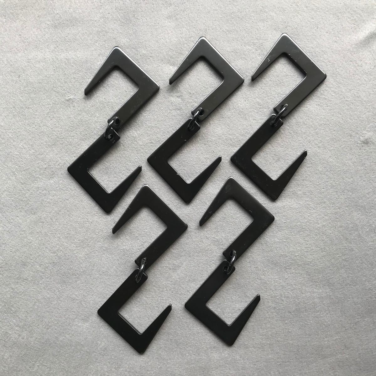 アウトドア アイアンフック S字フック キャンプ 5個セット ブラック ツール 焚き火 焚火 無骨 ランタンハンガー  クッキング