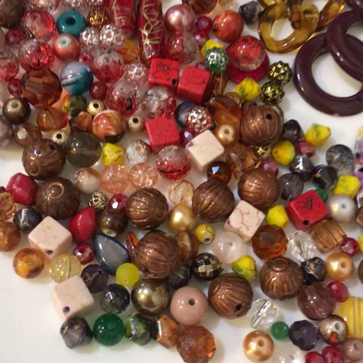 ガラスビーズ 天然石 アクセサリーパーツ アクリルビーズ 資材 セットお値下げしました!10月10日まで!1200円の商品
