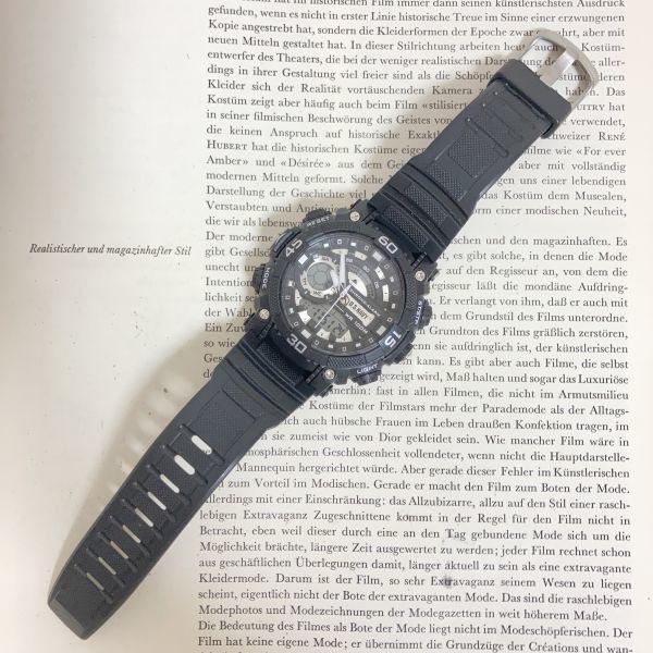 美品 ★U.SNAVY メンズ デジアナ 多機能 腕時計 ★ 3針 アラーム クロノ ブラック 稼動品 F5247_画像7