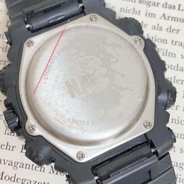 美品 ★U.SNAVY メンズ デジアナ 多機能 腕時計 ★ 3針 アラーム クロノ ブラック 稼動品 F5247_画像9