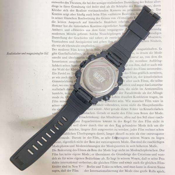 美品 ★U.SNAVY メンズ デジアナ 多機能 腕時計 ★ 3針 アラーム クロノ ブラック 稼動品 F5247_画像8
