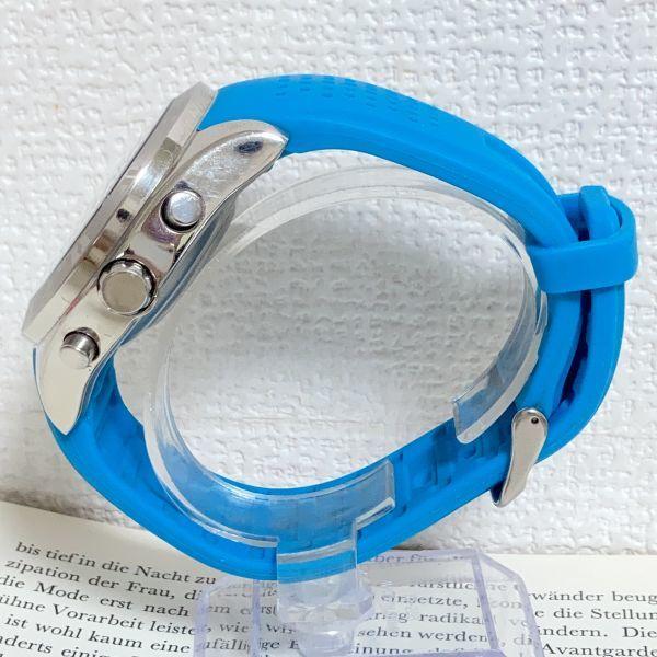 ★QUIKSILVER メンズ デジアナ 多機能 腕時計★ クイックシルバー 3針 アラーム クロノ タイマー シルバー 稼動品 F5302_画像5