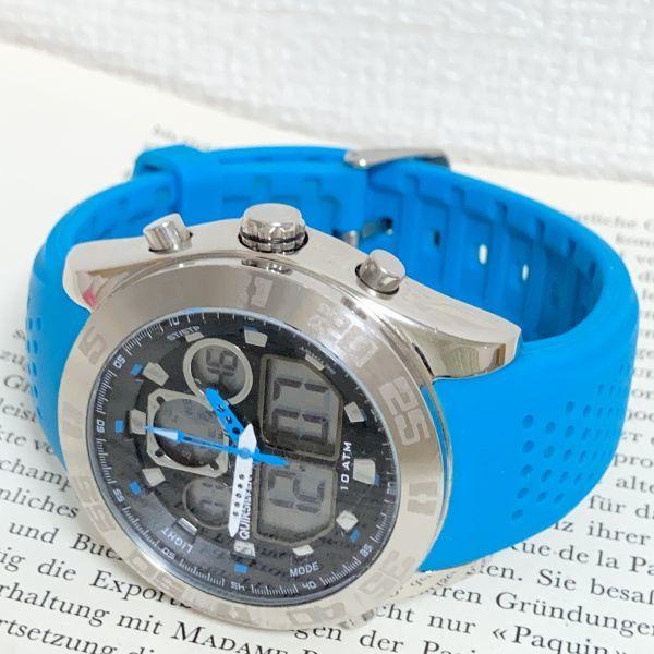 ★QUIKSILVER メンズ デジアナ 多機能 腕時計★ クイックシルバー 3針 アラーム クロノ タイマー シルバー 稼動品 F5302_画像7