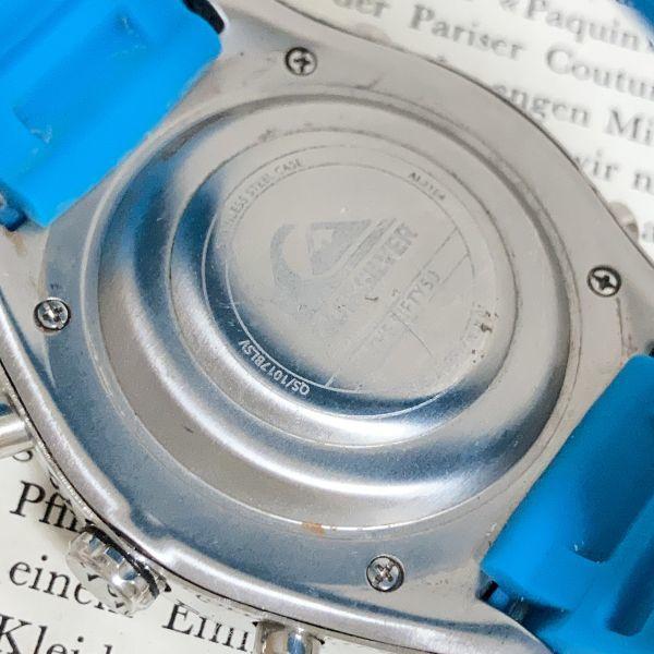 ★QUIKSILVER メンズ デジアナ 多機能 腕時計★ クイックシルバー 3針 アラーム クロノ タイマー シルバー 稼動品 F5302_画像9