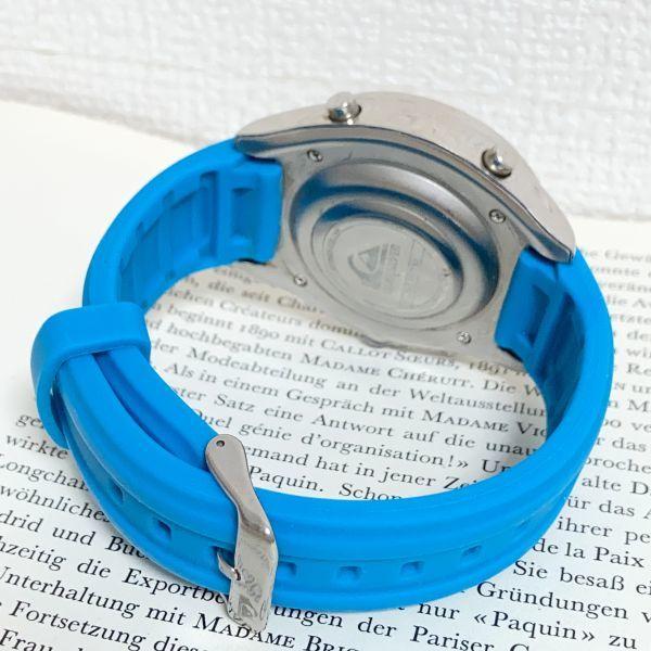 ★QUIKSILVER メンズ デジアナ 多機能 腕時計★ クイックシルバー 3針 アラーム クロノ タイマー シルバー 稼動品 F5302_画像8