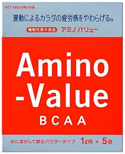 1箱 大塚製薬 アミノバリュー BCAA パウダー8000 1L用 48gx5袋 [機能性表示食品]_画像1