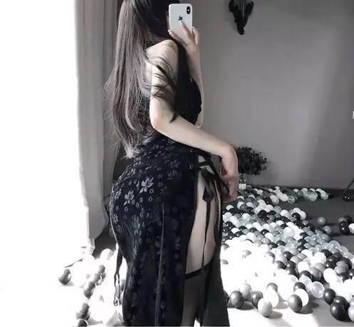 セクシーコスプレ sexyチャイナドレス ホワイト 花柄模様 魅力的なドレス衣装_画像4