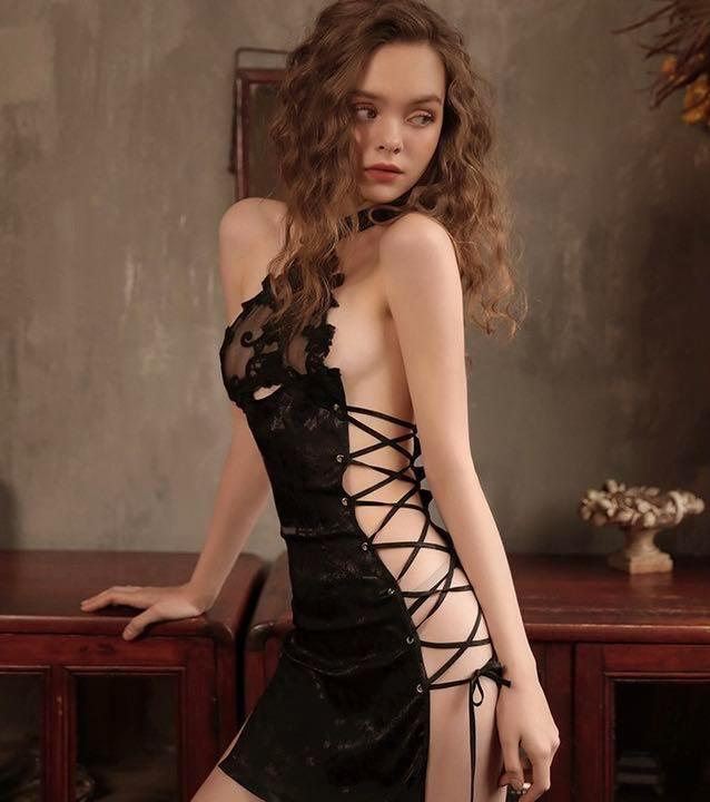 セクシーコスプレ チャイナドレス とってもSexy 白チャイナ 美しい衣装_画像6