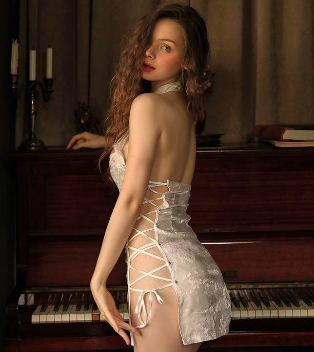 セクシーコスプレ チャイナドレス とってもSexy 白チャイナ 美しい衣装_画像8