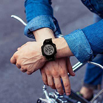 Haruma 腕時計 メンズ デジタル腕時計 人気 スポーツ 50メートル防水 おしゃれ 多機能 LED表示 大画面 アウトドア_画像7