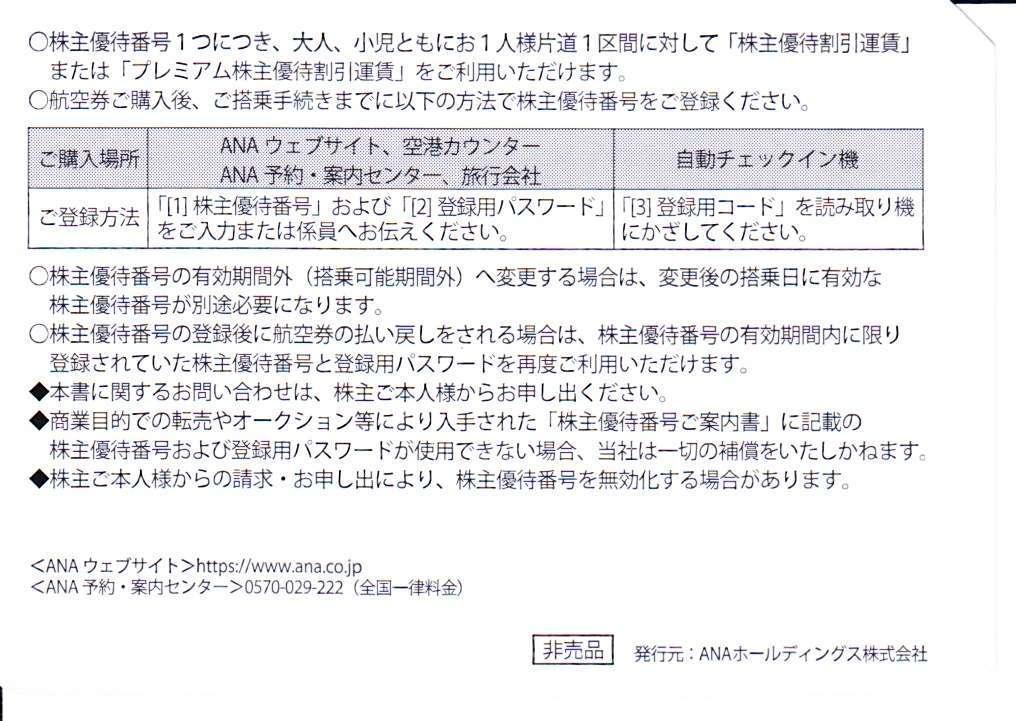 期限延長2021.5.31⇒11.30迄 ANA☆全日空 株主優待 運賃割引券 1-3枚_画像2
