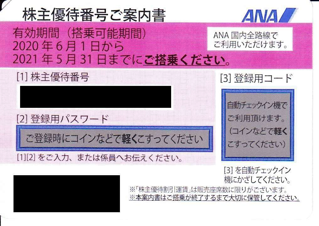 期限延長2021.5.31⇒11.30迄 ANA☆全日空 株主優待 運賃割引券 1-3枚_画像1
