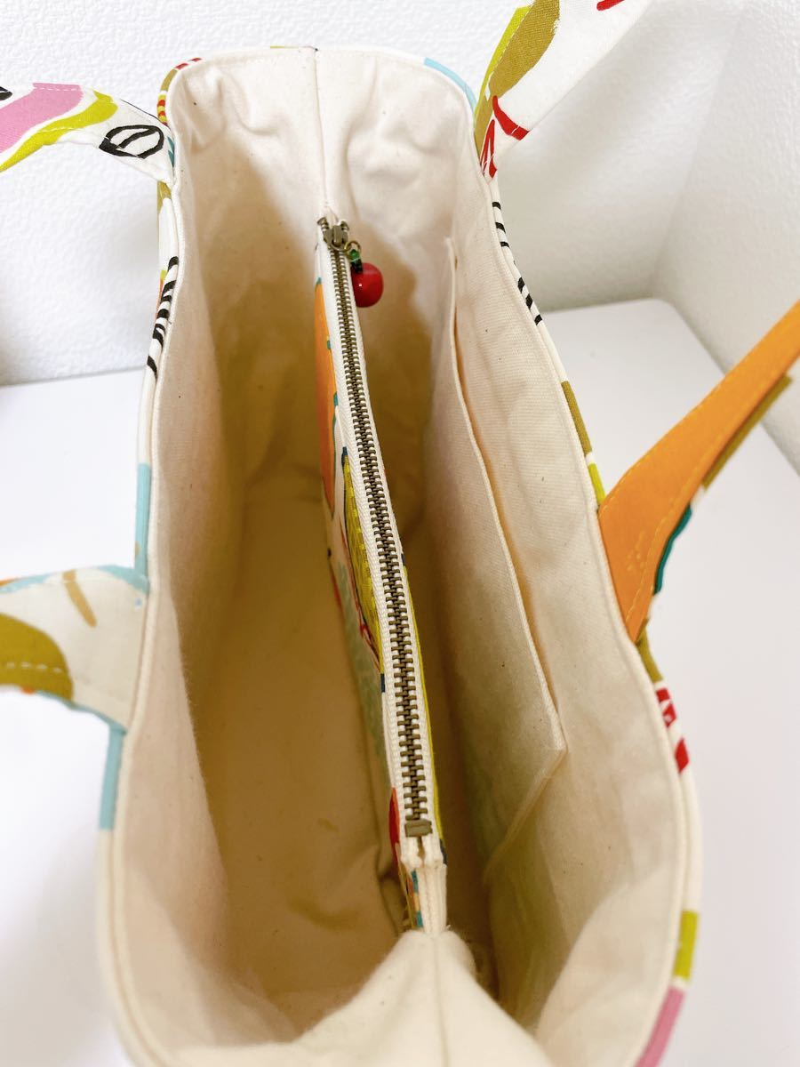 ハンドメイド トートバッグ りんご柄