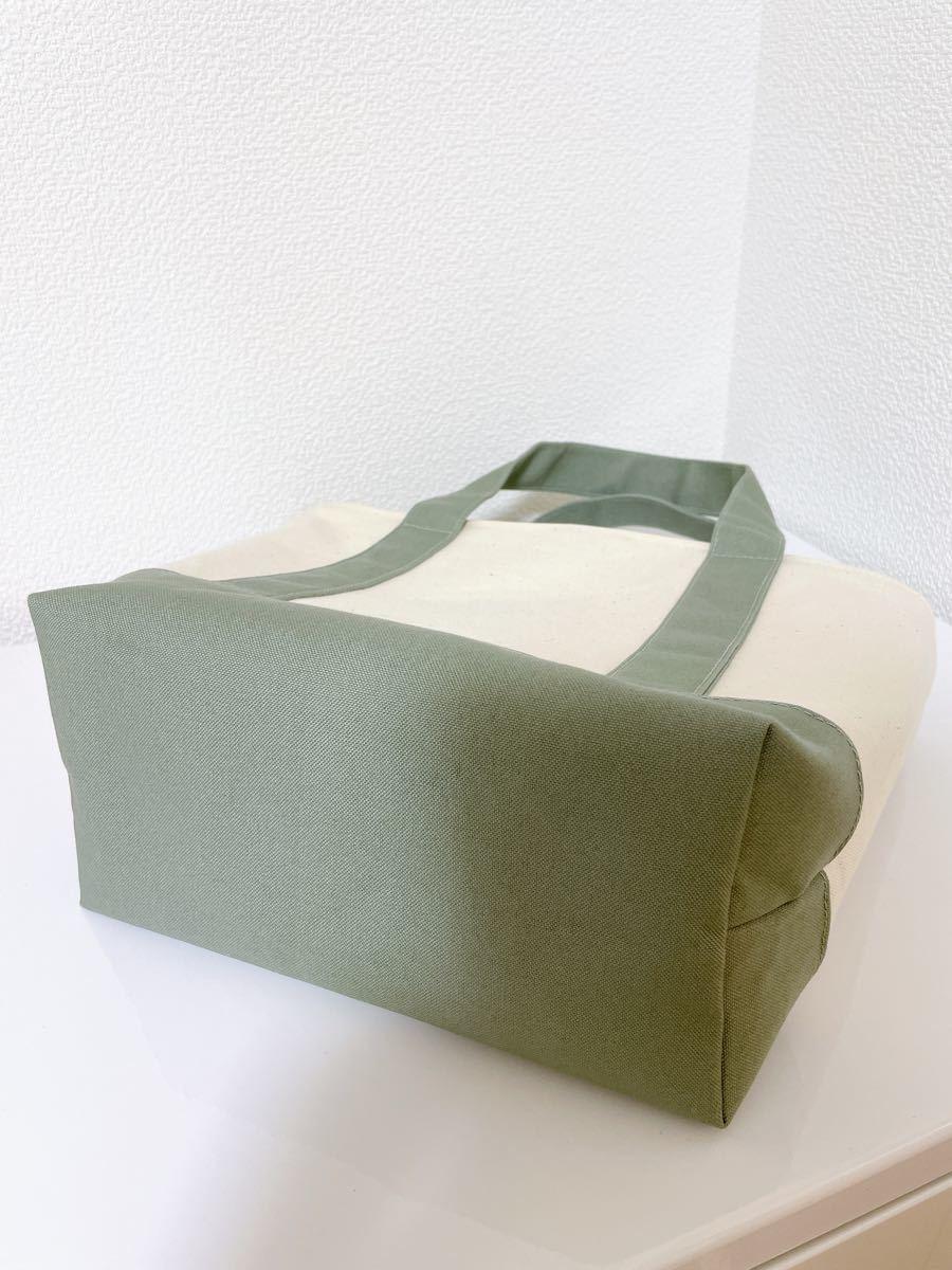 ハンドメイド トートバッグ 帆布 ファスナー