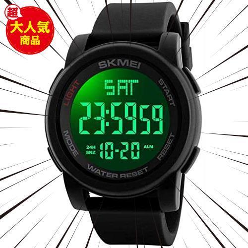 Timever(タイムエバー)デジタル腕時計 防水 メンズ スポーツ うで時計 多機能付き ストップウォッチ アラーム アウトドア led watch_画像1