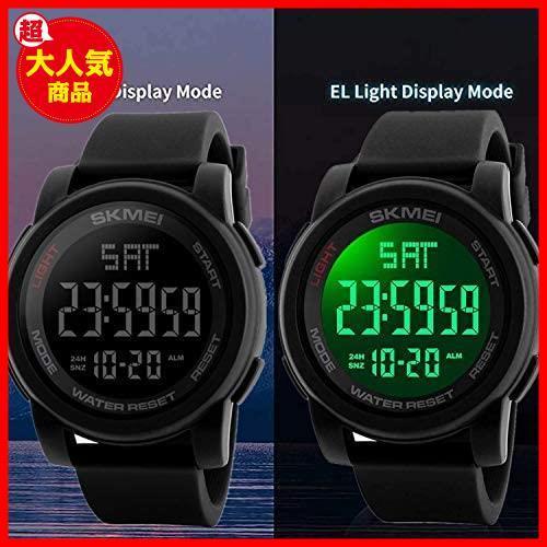 Timever(タイムエバー)デジタル腕時計 防水 メンズ スポーツ うで時計 多機能付き ストップウォッチ アラーム アウトドア led watch_画像2