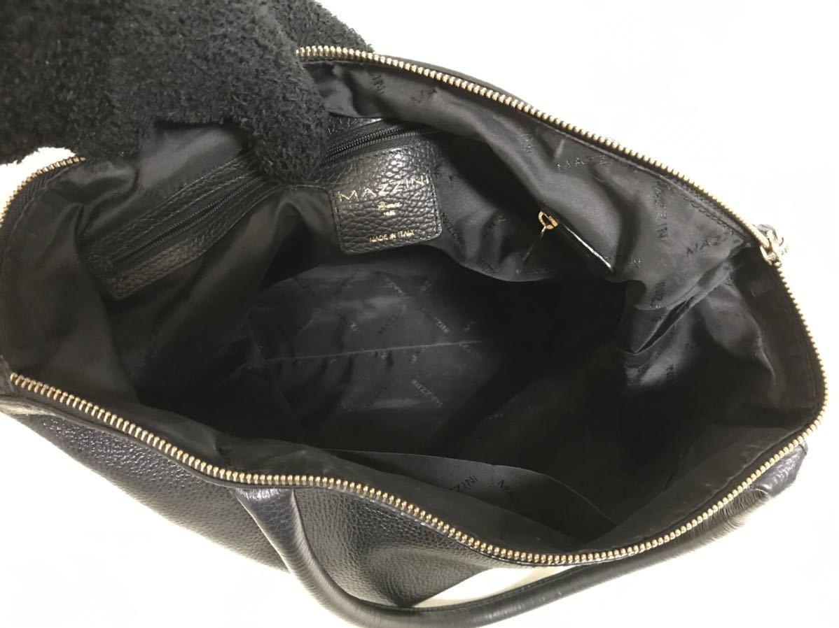 本物マジーニMAZZINI本革レザーミニボストンハンドトートバッグビジネスバックトラベルレディースメンズ旅行黒ブラックイタリア製