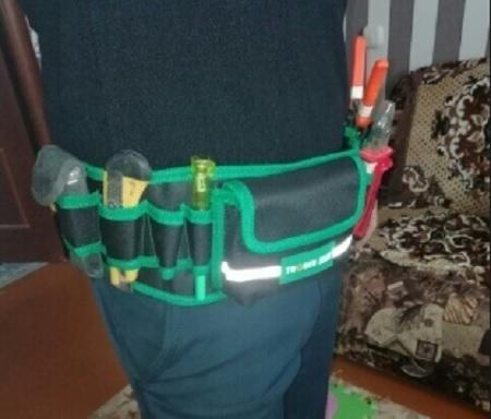工具腰袋 ウエストポーチ 工具差し 工具 収納 道具袋 大容量 ドライバー入れ レンチ入れ 工具入 DIY 多機能 防水 耐久性CH369_画像8