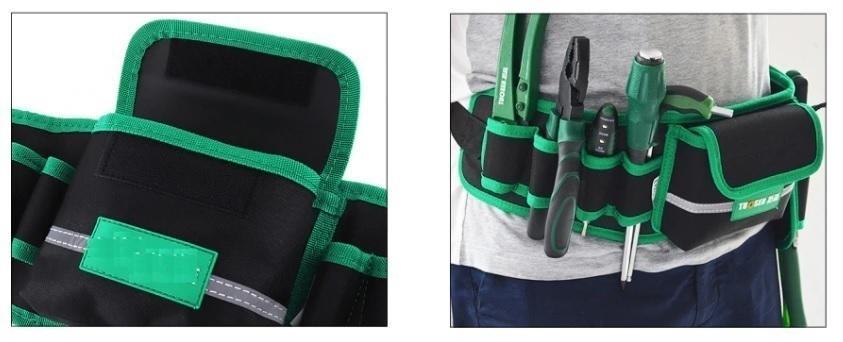 工具腰袋 ウエストポーチ 工具差し 工具 収納 道具袋 大容量 ドライバー入れ レンチ入れ 工具入 DIY 多機能 防水 耐久性CH369_画像4