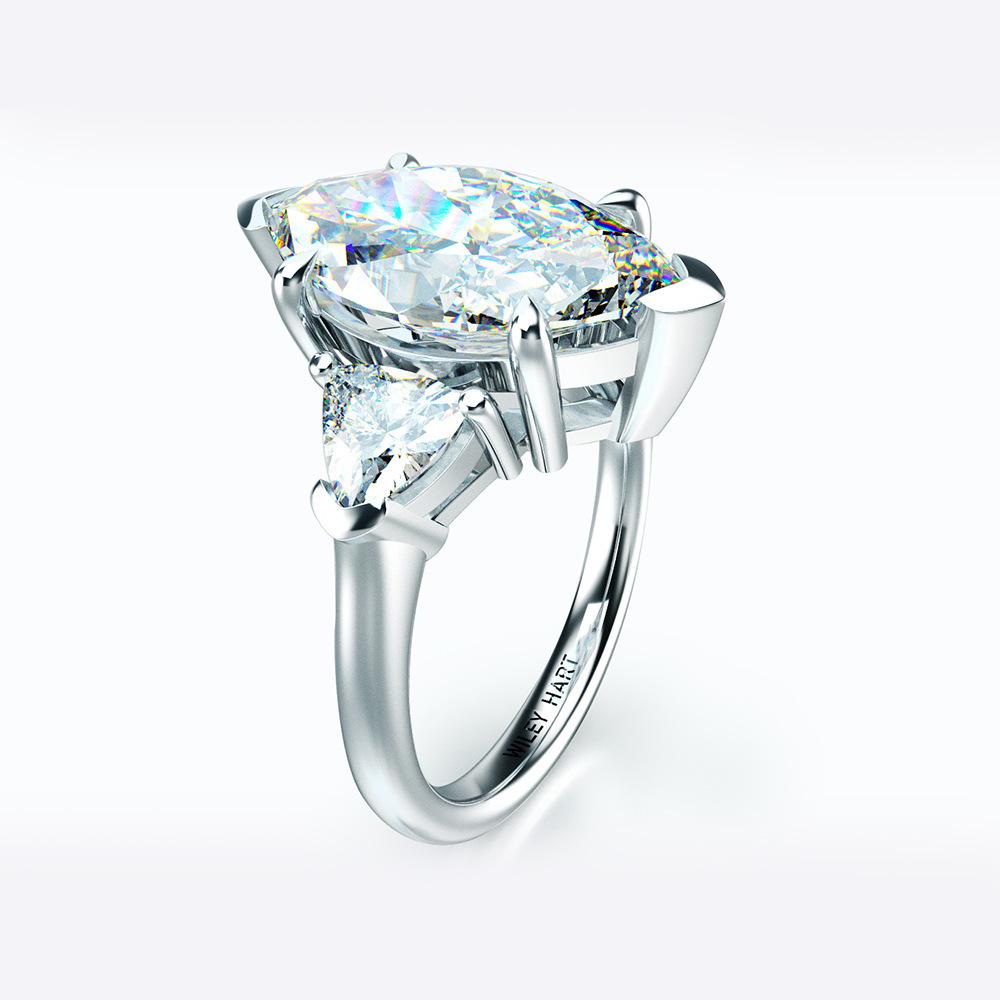 【最高純度】『過去最高級』◆ 高品質 3石 レディースダイヤリング 2ct【プラチナ仕上】注目 新品 贈答品_画像2