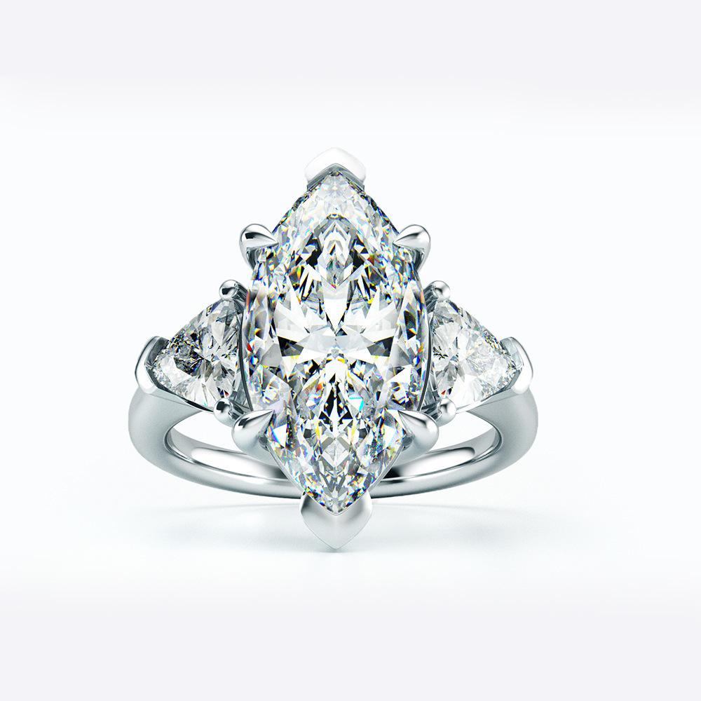 【最高純度】『過去最高級』◆ 高品質 3石 レディースダイヤリング 2ct【プラチナ仕上】注目 新品 贈答品_画像1